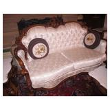 Sofa Set with Marble Top Coffee Table