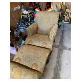 Gently used Chair and ottoman