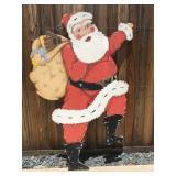 Vintage hand made particle board Santa, 5'