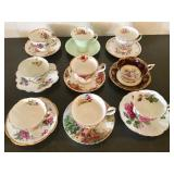 Vintage tea cups/saucers