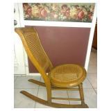 Antique Oak Cane Seat rocker