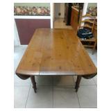 English oak drop leaf gate leg dining table