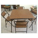 Card table, 4 chairs