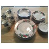 Christmas china for 8
