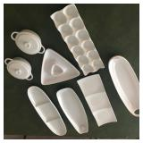 White serving pieces
