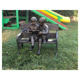Boy and girl bronze