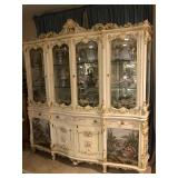 Tapestry china cabinet