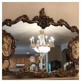 Italian figurines mirror