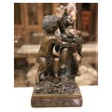 Bronze cherubs