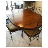 Thomasville Madison County table, leaf, and 6 chairs (tabletop needs refinishing) $300