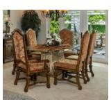 Part of 16 piece dinning.  Table w/ 8 chairs