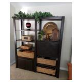 Espresso Oak wall unit