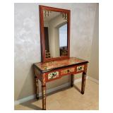 Asian inspired console/desk w/ complimentary mirror