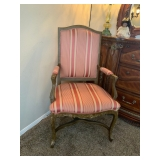 Stripped patterned chair