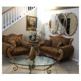 SOLD - Loveseat & oversized chair
