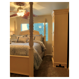 SOLD - King Bed, Armoire & Side table $300