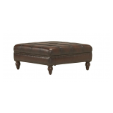 Haverty's Radford Leather Sectional Couch and Ottoman for ...