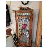 glass curve glass china hutch