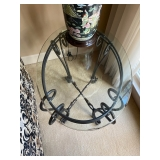 Oval Glass End Table