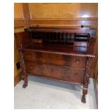 Antique Carved Desk w/ Folding Top