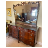 Solid Wood Double Dresser w/ Mirror