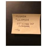 "Toshiba 62"" Cinema DLP Integrated"