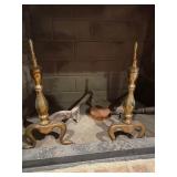 Brass Fireplace Andirons
