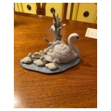 Lladro Mother Swan with baby swans