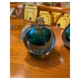 Set of Blown Glass Pear and Apple