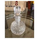 Waterford Glandmore Pattern Cut Glass Crystal Perfume Bottle W/ Stopper