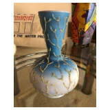 Blue and White vase w/ Gold detail