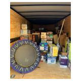 Exercise equip,men's work boots ,sneaks and shoes 8.5, tons of glassware and small kitchen applianc!
