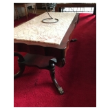 Marble & Cherrywood Coffee Table