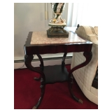 Marble & Cherrywood End Table