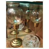 glass bulb candle holders