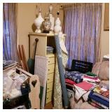 More lamps, chest, fabric
