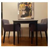 Ikea Lerhamn Dining Table with 2 Nils chairs $100 29 1/8 W 29 1/8 D 29 1/8 H