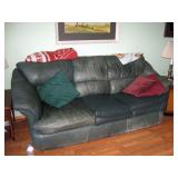 Living Room  Green leather couch #2