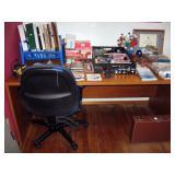 Center Bedroom  Desk, Office chair, Office stuff