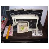 South Bedroom  Sears Kenmore Sewing Machine w/lots of attachments in boxes