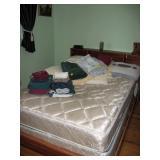 North Bedroom Left  Bed, Blankets, Sheets