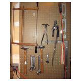 Garage  Vintage Frame saw, Hammers, Levels