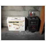Garage  Convector heater, Sears 200 amp Charger