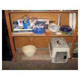 Garage  Camping Stuff-Plates, Cups, Etc, Dog Kennel
