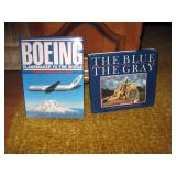 Living Room Left  Boeing  Book,  The Blue and The Grey