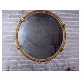 Living Room Left Vintage Round Mirror