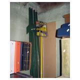 Basement Back Room  10 ft Green metal fence posts, New Light Bulb Changer Unit