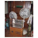 Basement Back Room  Air King fan, Presto Deluxe Heater