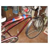 Basement Back Room Murray Solar Flite Bike w/Sears Speedo (34.1 miles)  & light tank (not attached)