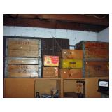 Basement Lucern Crates, Coke Box, other boxes